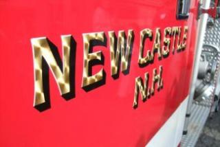 New Castle NH Logo on side of a Fire Truck