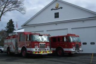 Fire Trucks Parked Outside