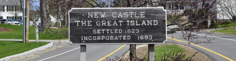 Sign of New Castle the Great Island Settled in 1623